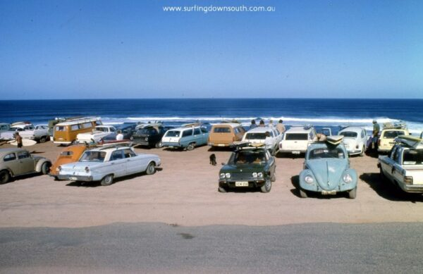 Late 1970's - Yallingup beach and hill - 975 Margaret River -Surfers Point carpark