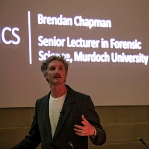 Forensic science school talks by Brendan Chapman