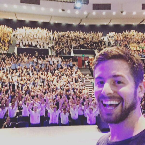 Brett Stanford from How Ridiculous - selfie at a school talk
