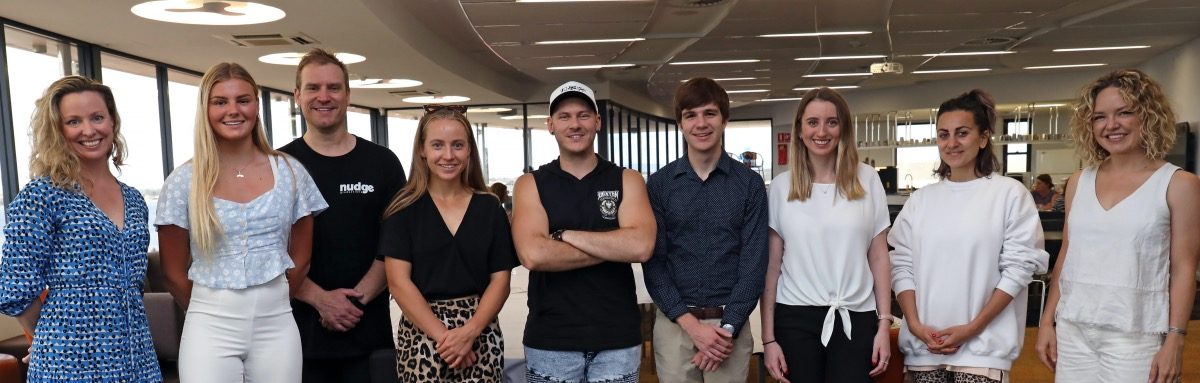 'Nudgers' who presented at Santa Maria College's wellbeing event (November 2020)